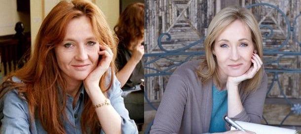 Donne famose: JK Rowling vent'anni fa e oggi
