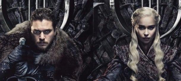 Serie TV GOT, Jon e Daenerys sul trono di spade