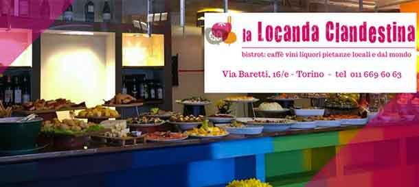 Locanda Clandestina Torino, buffet all'interno